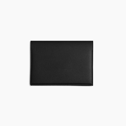 Small Minimalist Folio V2 in Black Front Closed