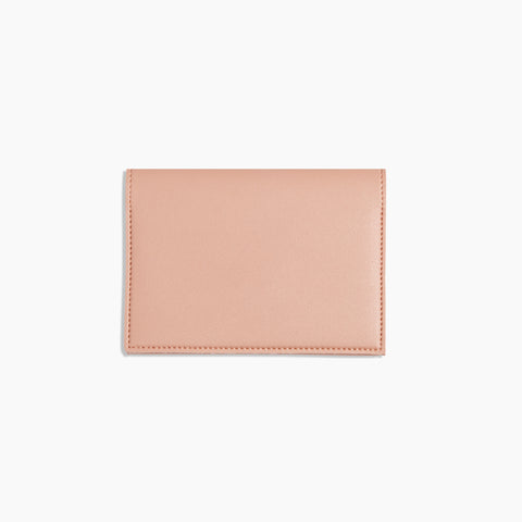 Small Minimalist Folio V2 in Blush Front Closed