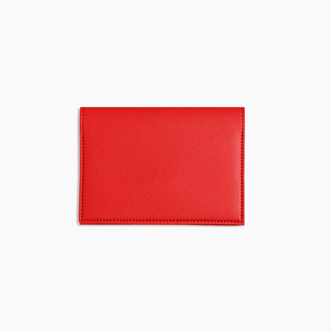 Small Minimalist Folio V2 in Red Front Closed