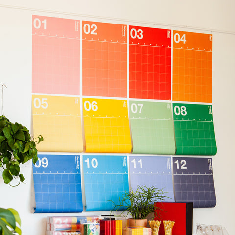 Spectrum Wall Planner Hanging on Wall 12 Months