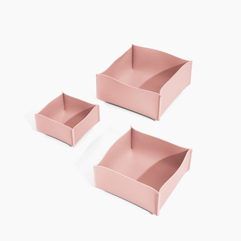Minimalist Storage Box Set in Blush
