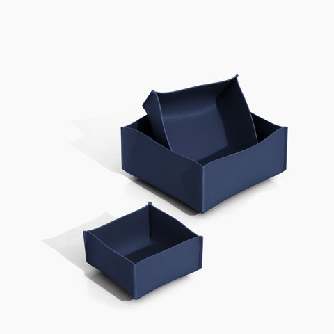Minimalist Storage Box Set in Navy
