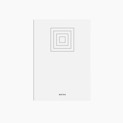 Square Notebook Exterior White Black