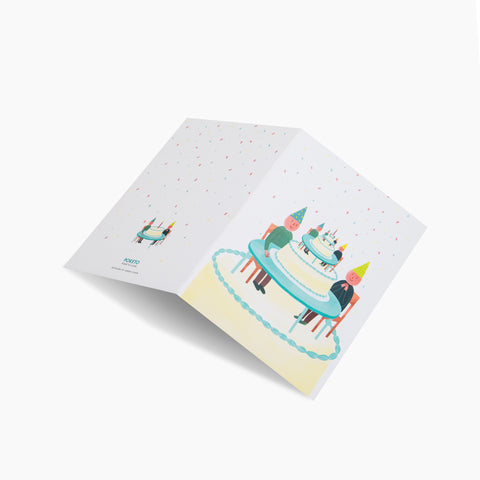 Surrealist Birthday Party Card