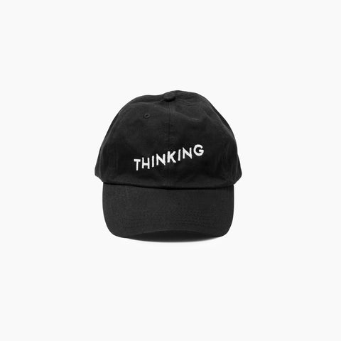 Thinking Cap in Black Front of Cap