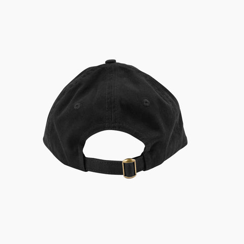 Thinking Cap in Black Back of Cap