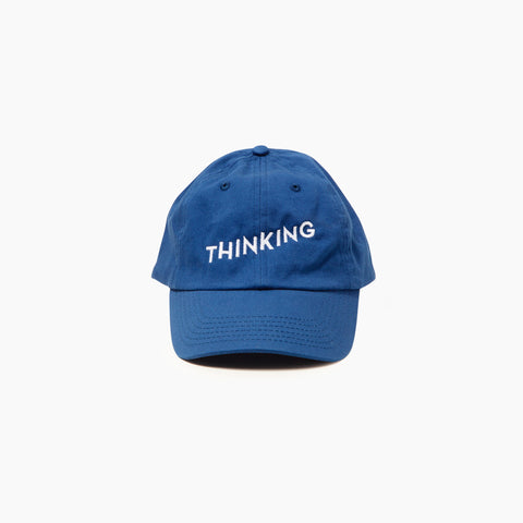 Thinking Cap in Blue Front of Cap