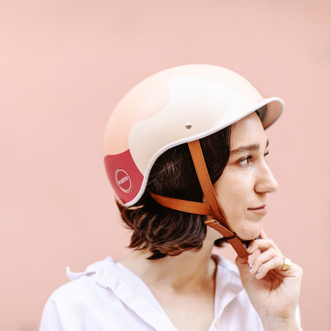 Poketo x Thousand Bike Helmet Coral Reef on Model