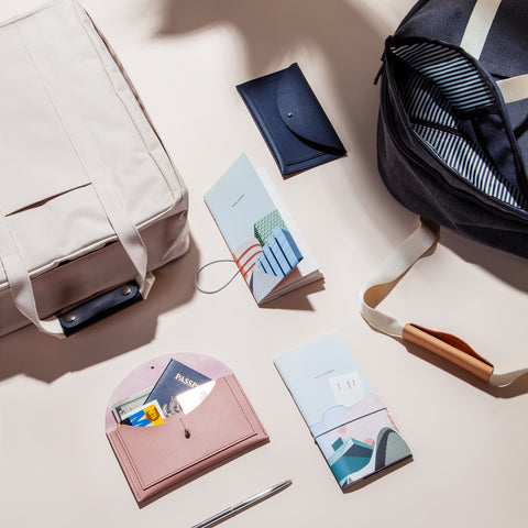 voyager backpack and travel journal set