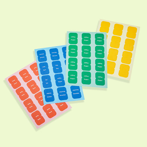 Vibrant Sticker Tabs
