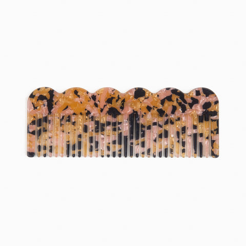 Acetate Wave Comb in Pink Multi