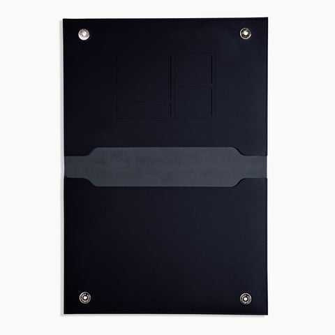 "XL 15"" Minimalist Folio in Black"