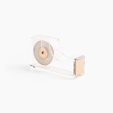 Lucite Tape Dispenser Gold Acrylic