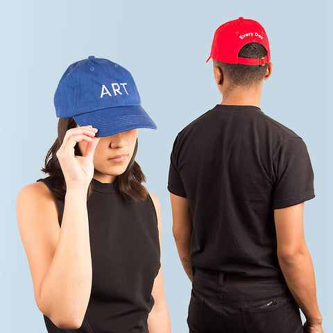Art Every Day Cap in Cobalt and Red