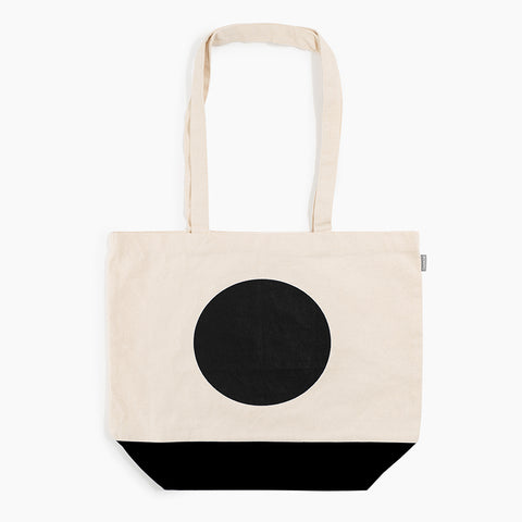 Art Every Day Tote Canvas black circle print and bottom