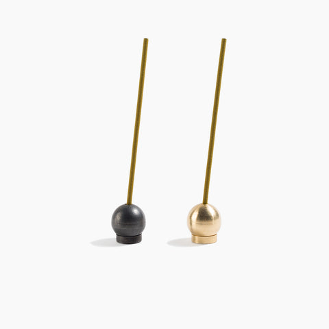 Ball Incense Holder Gold and Black