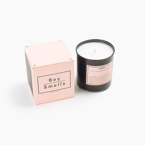 Boy Smells Candle