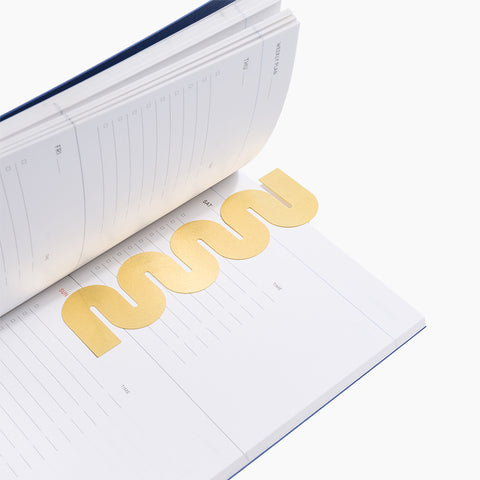 Brass Bookmark Wave