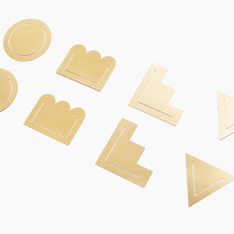 Brass Clips Geometric Set-8