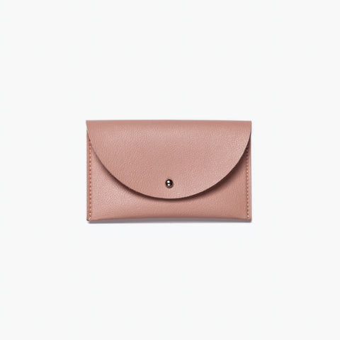 minimal card case blush pink wallet purse vegan leather