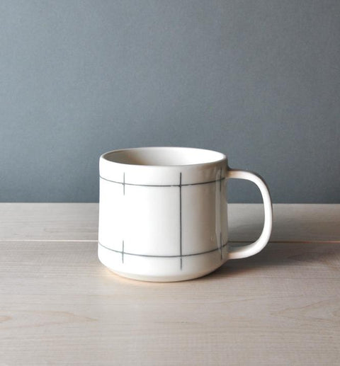 Porcelain Mug in Lines