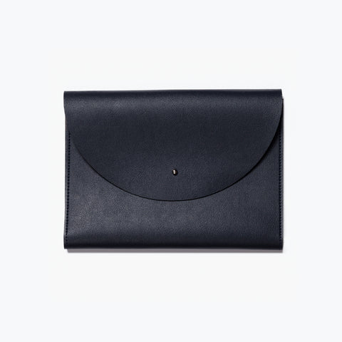medium minimalist folio navy planner wallet