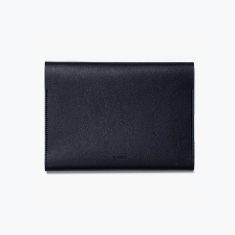 Poketo Medium Minimalist Folio Navy Organizer Back