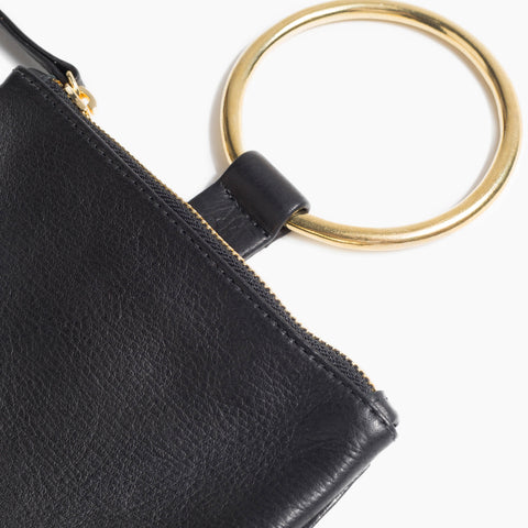 OTAAT / Myers Collective Medium Ring wristlet black leather brass