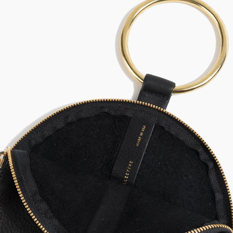 OTAAT / Myers Collective Ring wristlet black leather brass