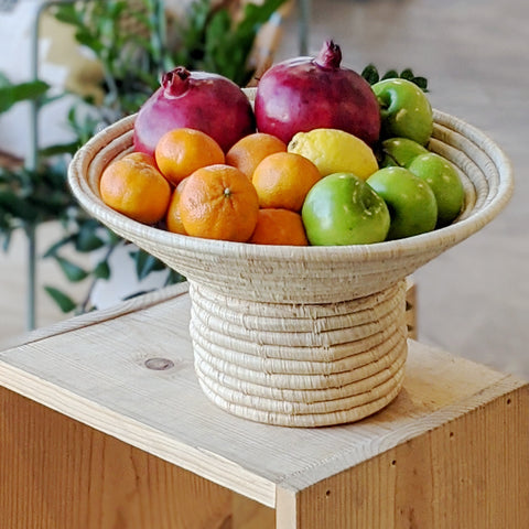 Ugandan Natural Pedestal Fruit Bowl
