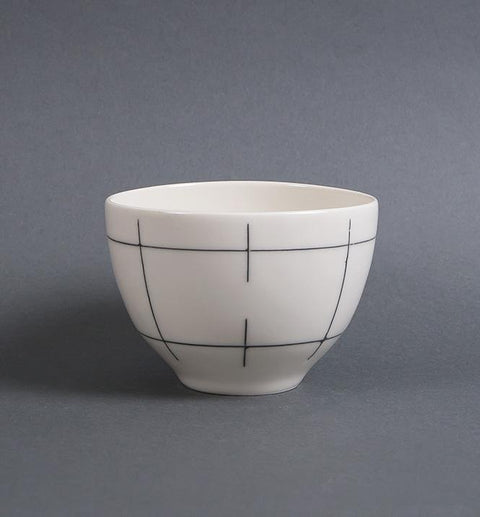 Porcelain Bowl in Lines