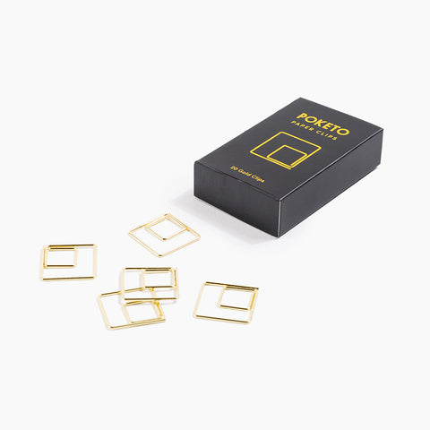 Gold Square Shape Paper Clips