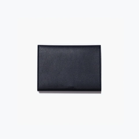 Poketo Small Minimalist Folio Navy Organizer Wallet Back