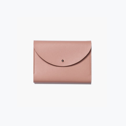 Poketo Small Minimalist Folio Blush Organizer Wallet