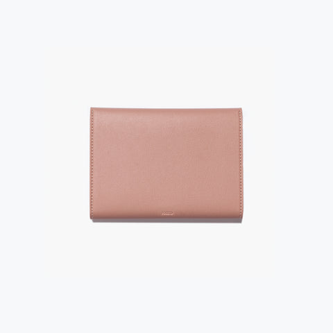 Poketo Small Minimalist Folio Blush Organizer Wallet Back