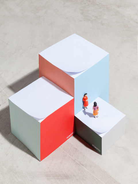 Poketo Tower Block Notepad Medium Square Color Block