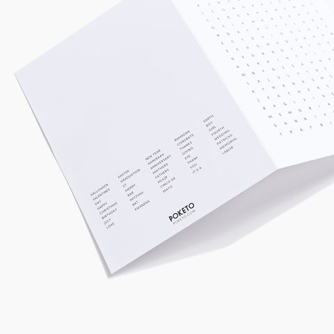 Word Search Multiple Occasion Card