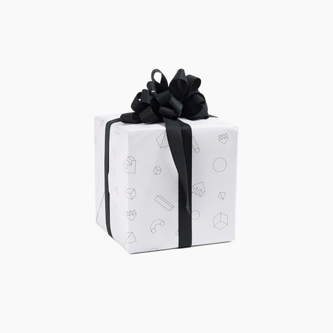 Wrapping Paper Objects White Black