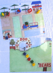 Zoo and Inside Zoo Math Mat