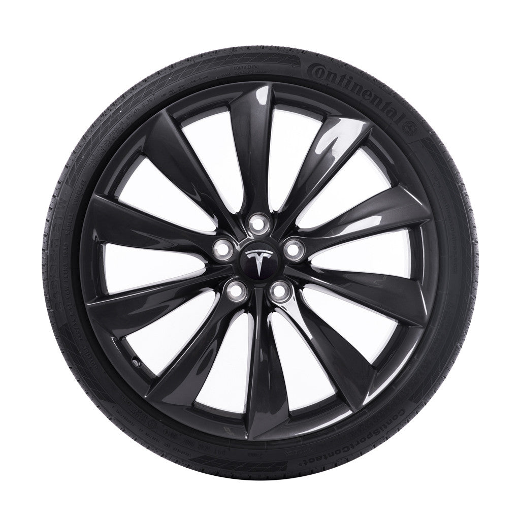 Tesla 21 Quot Turbine Wheel And Tire Package Grey