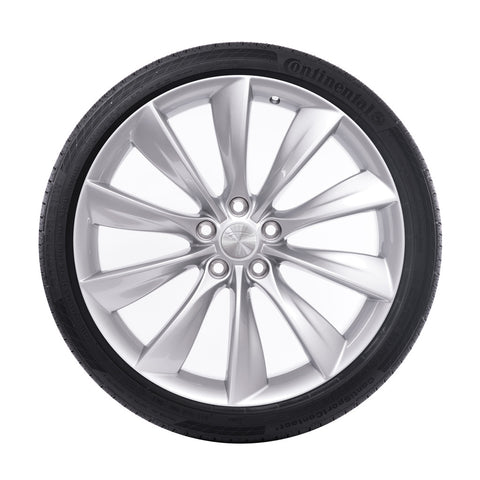 "21"" Turbine Wheel and Tire Package - Silver"