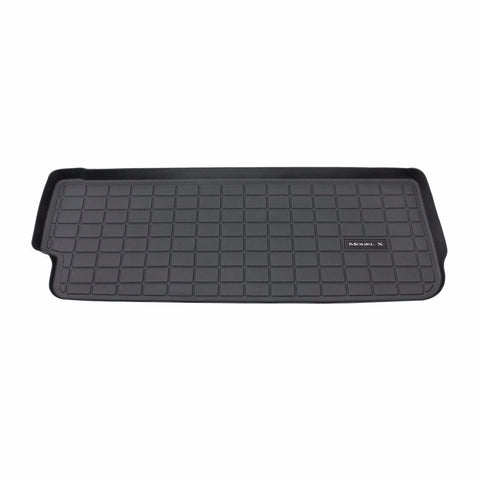 Model X All-Weather Rear Cargo Mat - Third Row Seat Up