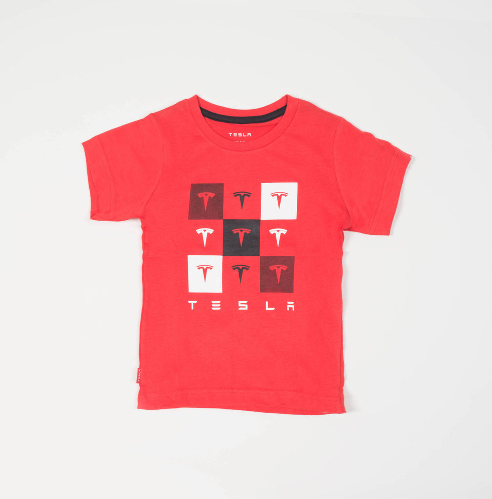 Kid's Red Checkered Tee