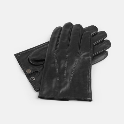 Men's Touch Screen Leather Driving Gloves
