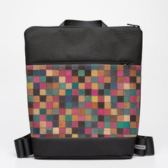 Oversize Backpack with Cuisenaire - Square
