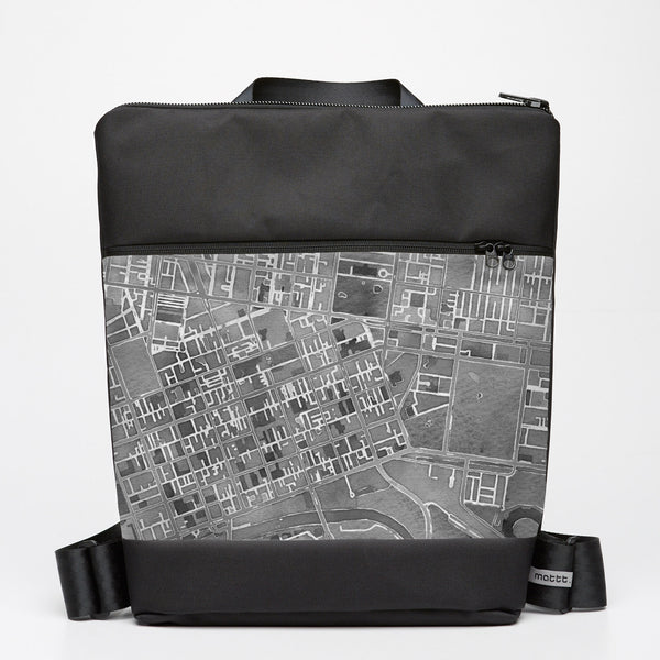 Oversize Backpack with Melbourne Map - Grey