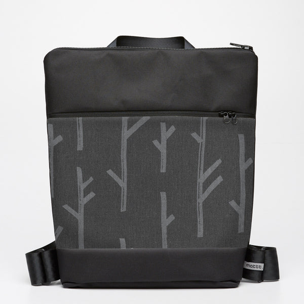 Oversize Backpack with Twig - Grey