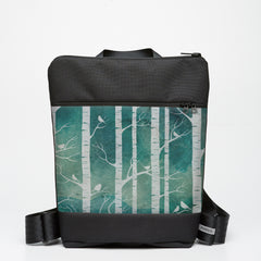 Zipper Backpack with Birch Forest - Marine