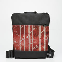 Zipper Backpack with Birch Forest - Ruby