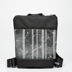 Zipper Backpack with Birch Forest - Smokey